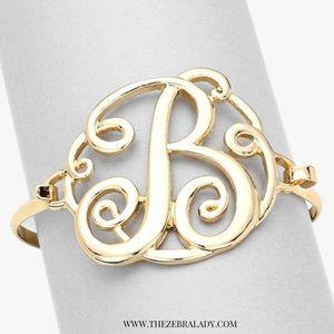 Jewelry monogram bracelet the letter B